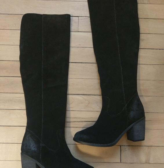 201ac6b897c Diba NIB black suede otk boots 7.5